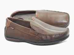 Mocassins en cuir souple marron Nautic