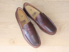 Mocassins loafers en cuir marron