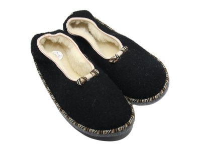 Chaussons noirs style ballerines